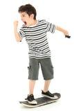 Nerd Rage Gamer Geek. Hilarious 8 year old boy angry at skateboarding video game Royalty Free Stock Photos
