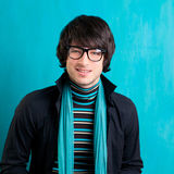 Nerd retro british indie look with handkerchief Royalty Free Stock Photography