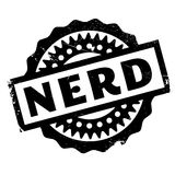 Nerd rubber stamp Royalty Free Stock Images