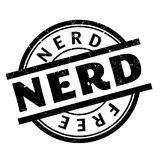 Nerd rubber stamp Royalty Free Stock Photo