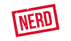 Nerd rubber stamp Stock Photography