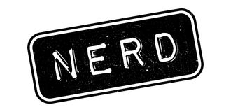 Nerd rubber stamp Stock Images