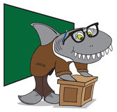 Nerd Shark Professor. Preparing to address his students Royalty Free Stock Photos