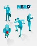 Nerd silhouettes vector Stock Photo