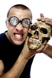 Nerd and skull Royalty Free Stock Photography