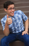 Nerd smiling Royalty Free Stock Images