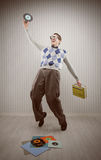 Nerd dancer Royalty Free Stock Image