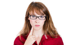 Nerd Student Girl Royalty Free Stock Image