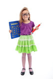 Nerd student girl Royalty Free Stock Photography