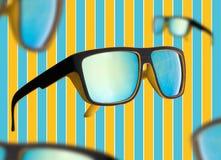 Nerd Sunglasses mirrored Stock Photography