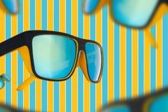 Nerd Sunglasses mirrored Royalty Free Stock Photo
