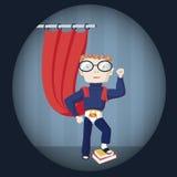 Nerd superhero. Vector illustration of  a nerd superhero Stock Photos