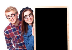 Nerd teens Stock Photography