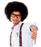 Nerd with thumbs down Royalty Free Stock Photography