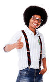 Nerd with thumbs up Stock Photos