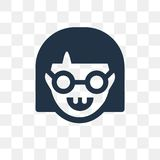 Nerd vector icon isolated on transparent background, Nerd trans vector illustration