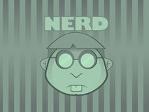 Nerd Wallpaper. A funny nerd Wallpaper for your desktop royalty free illustration