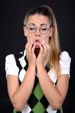 Nerd woman Stock Photo