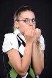 Nerd woman Stock Images