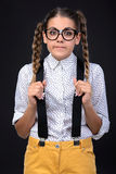 Nerd woman Stock Photo