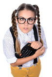 Nerd woman Royalty Free Stock Images