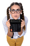 Nerd woman Stock Photography