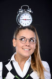 Nerd woman Royalty Free Stock Image