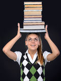 Nerd woman Stock Photos