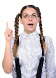 Nerd woman Royalty Free Stock Photo