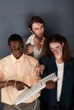 nerds τρία ομάδας στοκ φωτογραφία με δικαίωμα ελεύθερης χρήσης