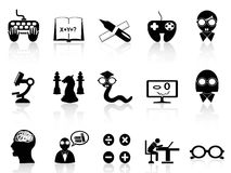 Nerds icon set Royalty Free Stock Photography