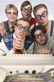 nerdy приятели Стоковое Фото