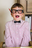 Nerdy boy Stock Photography