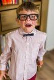 Nerdy boy Stock Photo