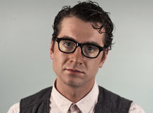 Nerdy Business Man Royalty Free Stock Photography