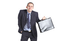Nerdy businessman Stock Photo