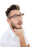 Nerdy businessman looking at camera Royalty Free Stock Images