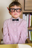 Nerdy chłopiec Zdjęcie Royalty Free
