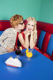 Nerdy couple Royalty Free Stock Images