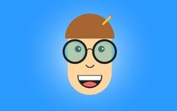 Nerdy Face Stock Image