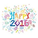 Nerdy Geeky νέα έτος-2016 Στοκ φωτογραφία με δικαίωμα ελεύθερης χρήσης