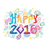 Nerdy Geeky New year-2016 Royalty Free Stock Image