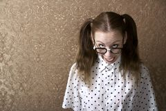 Nerdy Girl Royalty Free Stock Image