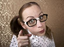 Nerdy Girl Stock Photo