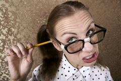 Nerdy Girl Stock Images