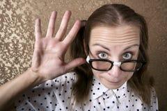 Nerdy Girl Stock Image