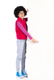 Nerdy girl pointing Royalty Free Stock Image