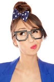 Nerdy girl Royalty Free Stock Photo