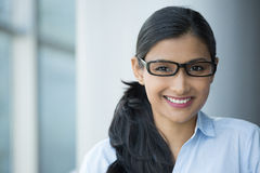 Nerdy intelligent woman Stock Photography