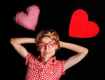 Nerdy Love Stock Photo